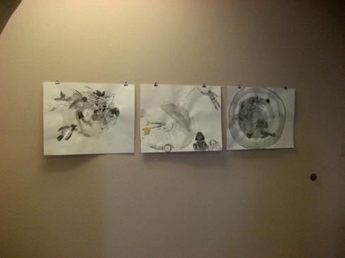 drawings on display